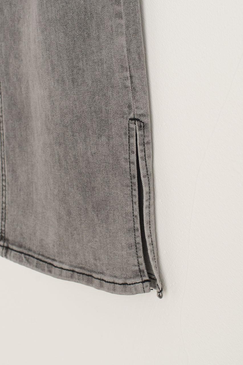 Slit Edge Wide Jean, Washed Black