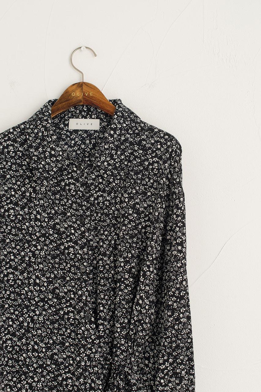 Anna Shirt Wrap Dress, Black
