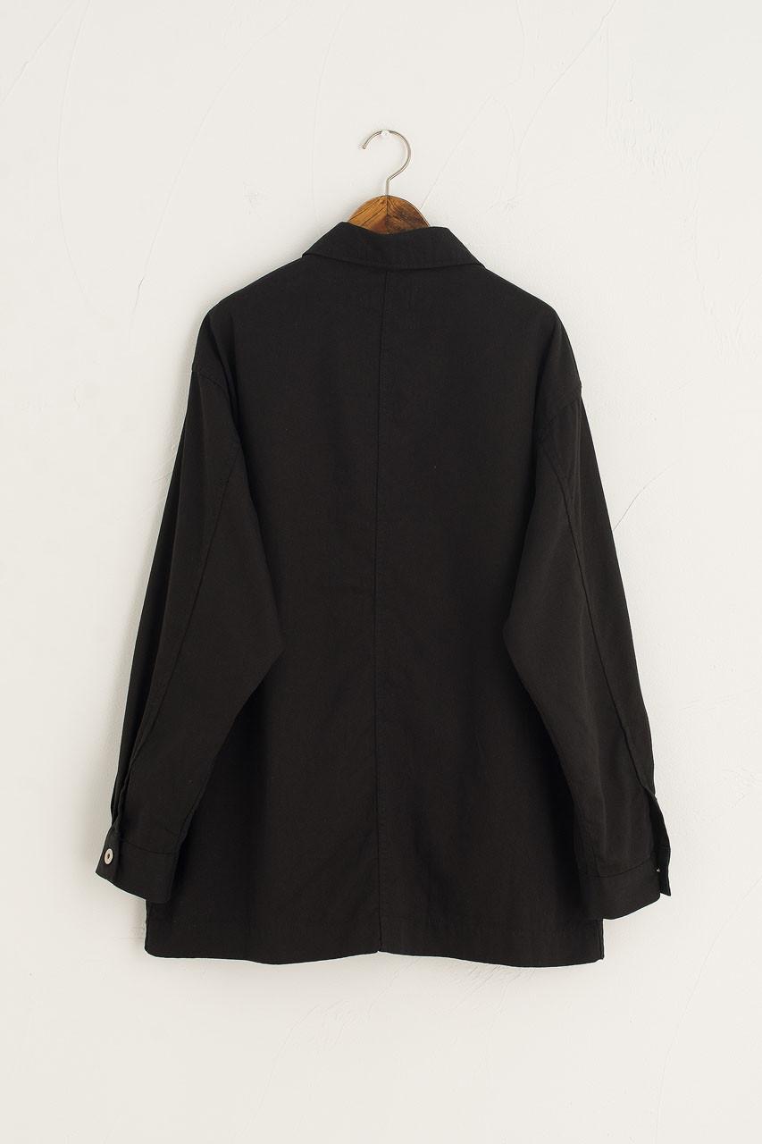 Light Weight Boxy Denim Jacket, Black
