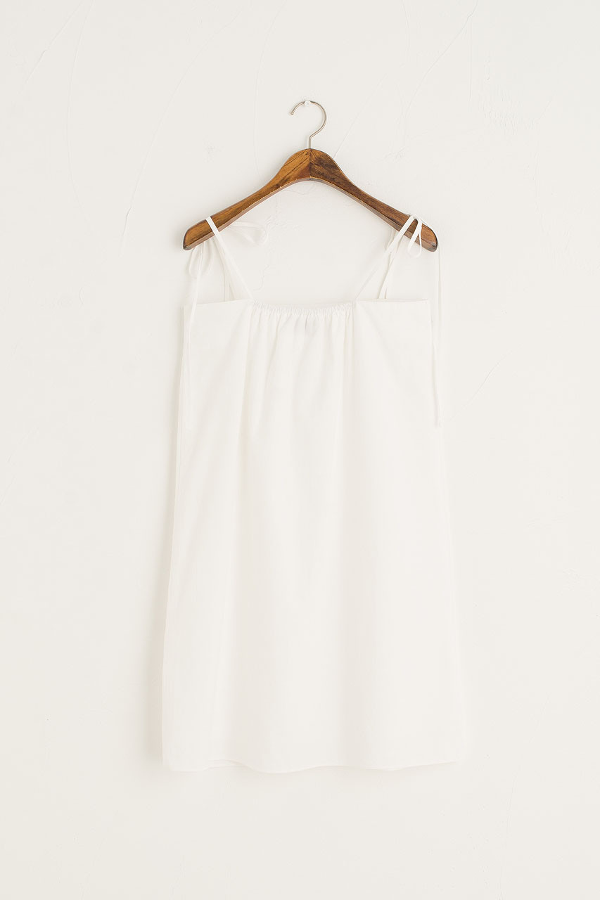 Simple Slip Mini Dress, White