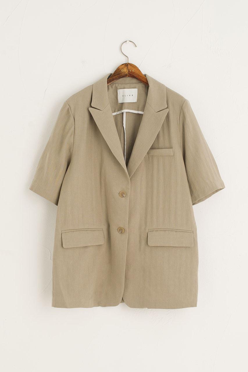 Casa Linen Jacket, Sage