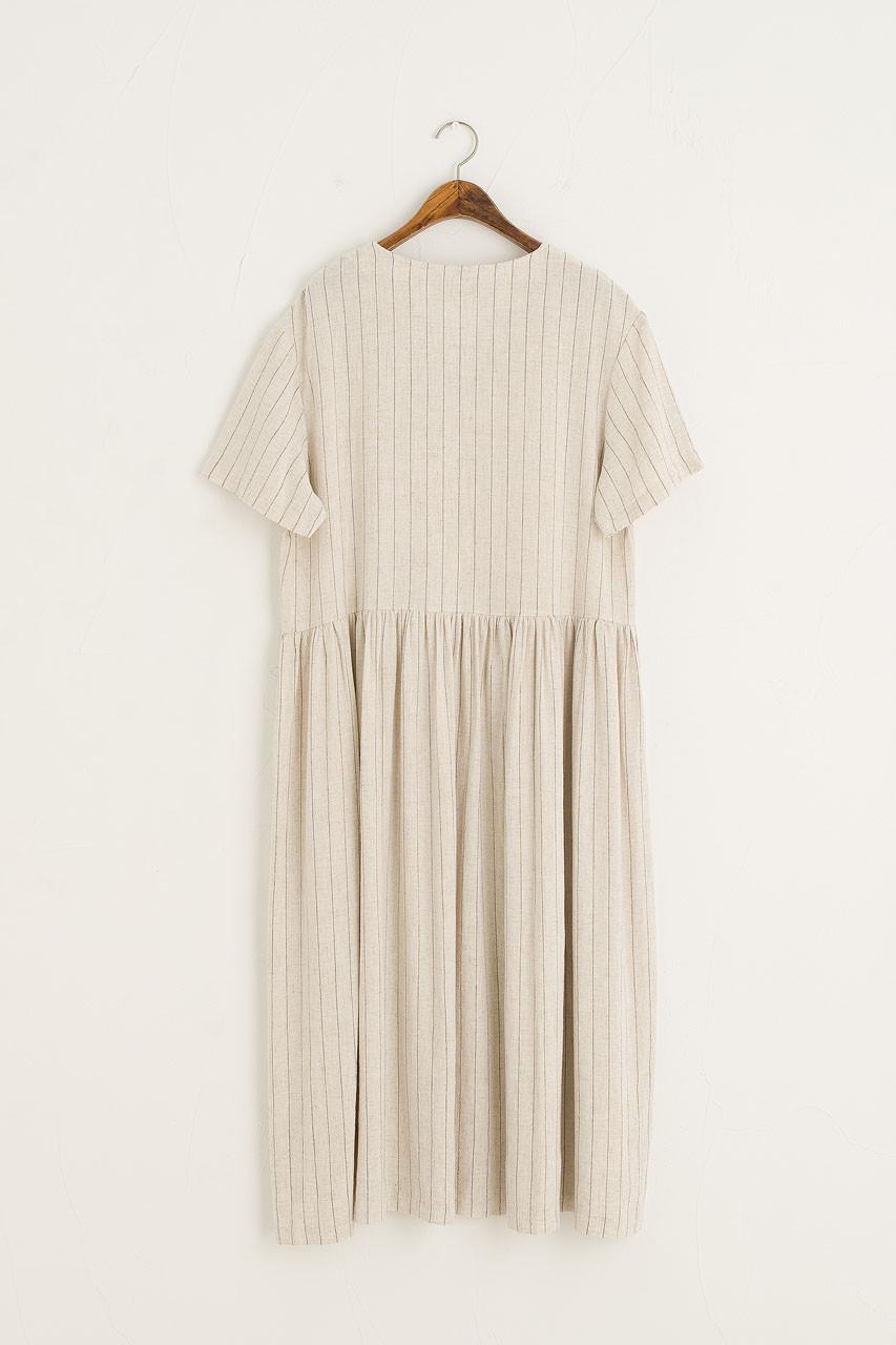 Andie Pinstripe Dress, Oatmeal