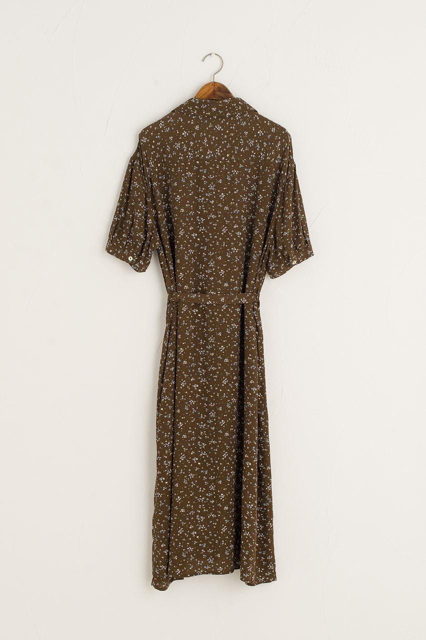 Hera Shirt Flower Dress, Brown