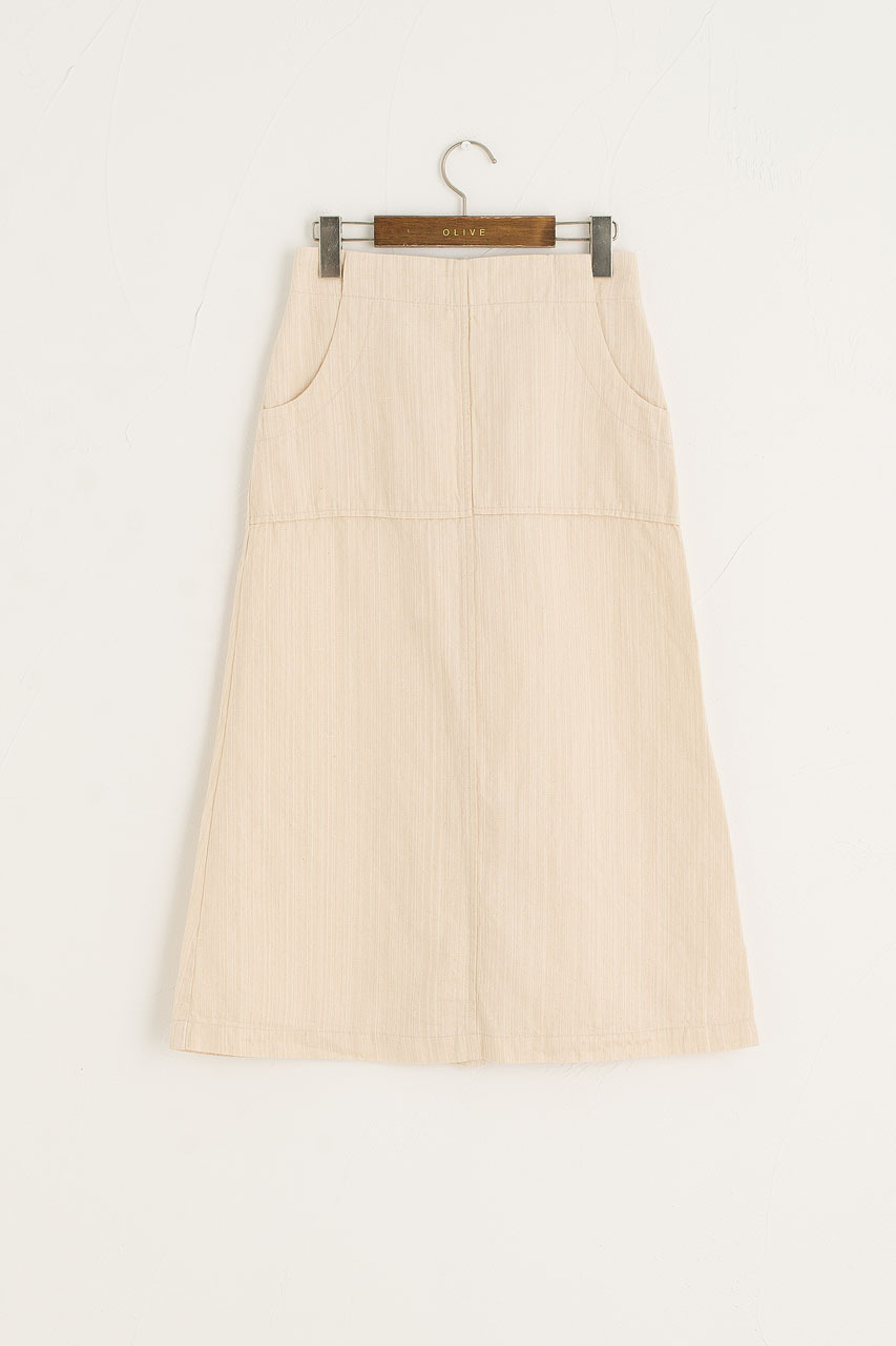 Andie Linen Skirt, Ivory