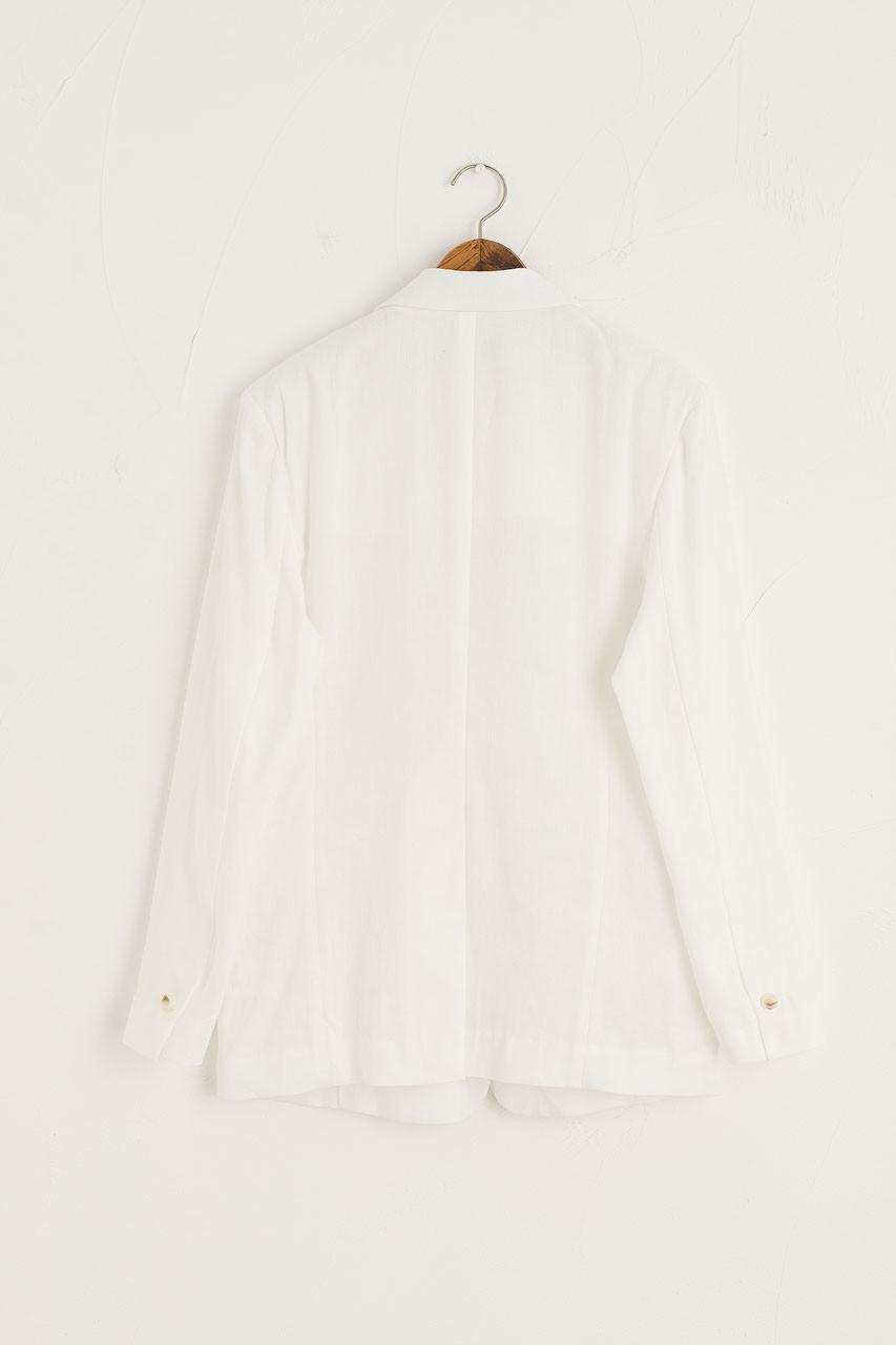 Hichko Linen Blend Blazer, Ivory