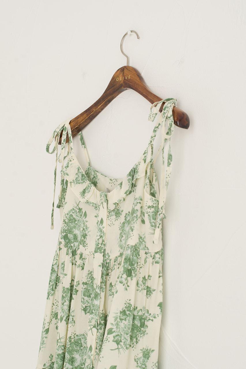 Vintage Roses Cami Dress, Green