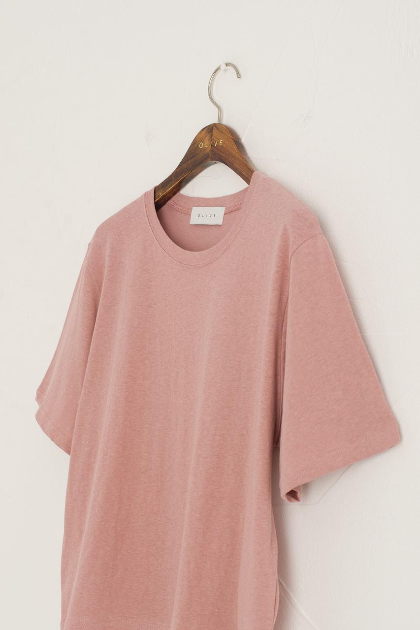 Dana Loose Fit Crop Tee, Washed Pink
