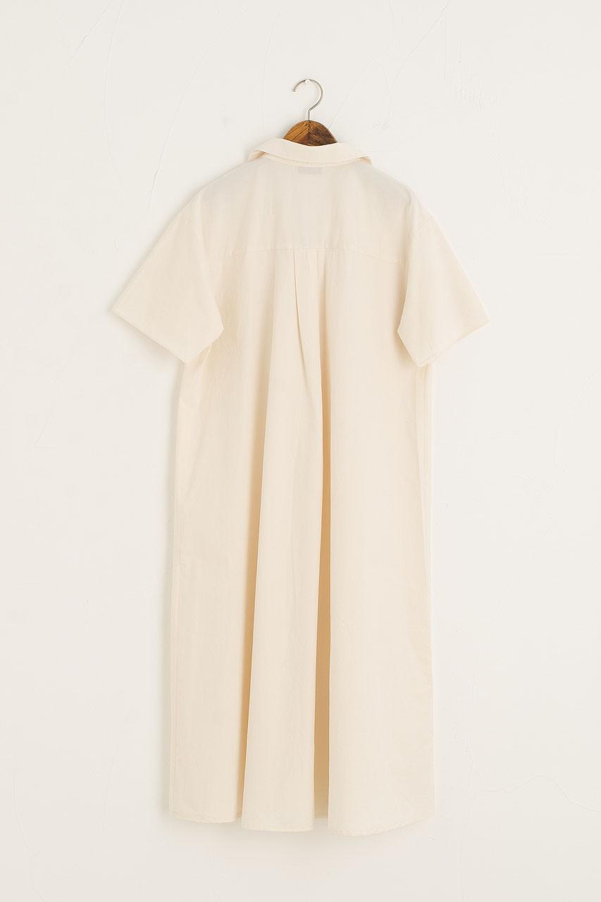 Hako Boxy Shirt Dress, Cream