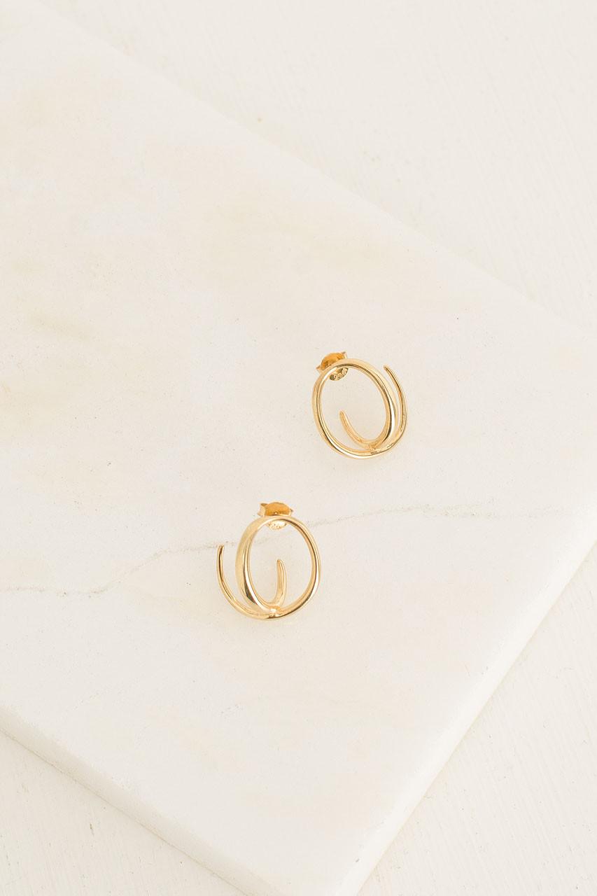 Helix Earrings, 18K Gold Plated