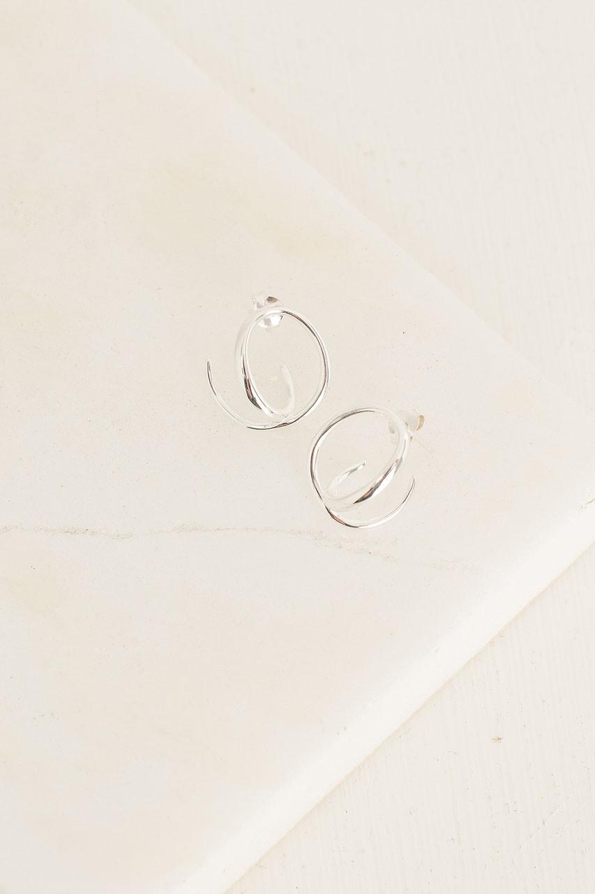 Helix Earrings, 92.5% Silver