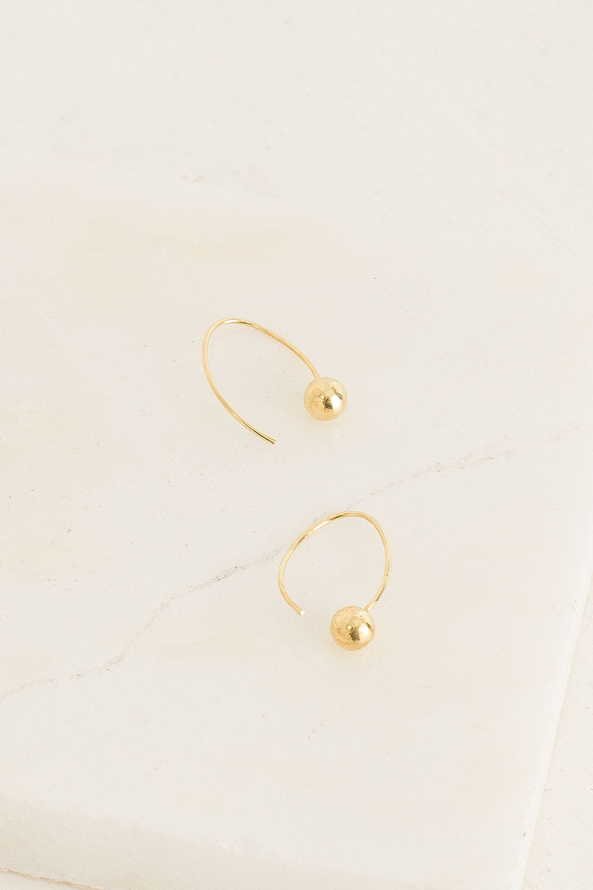 Cosmos Earrings, 18K Gold Plated