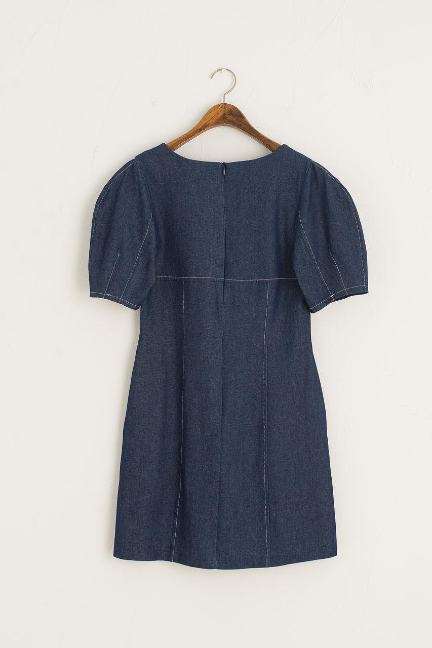 Roa Mini Denim Dress, Blue