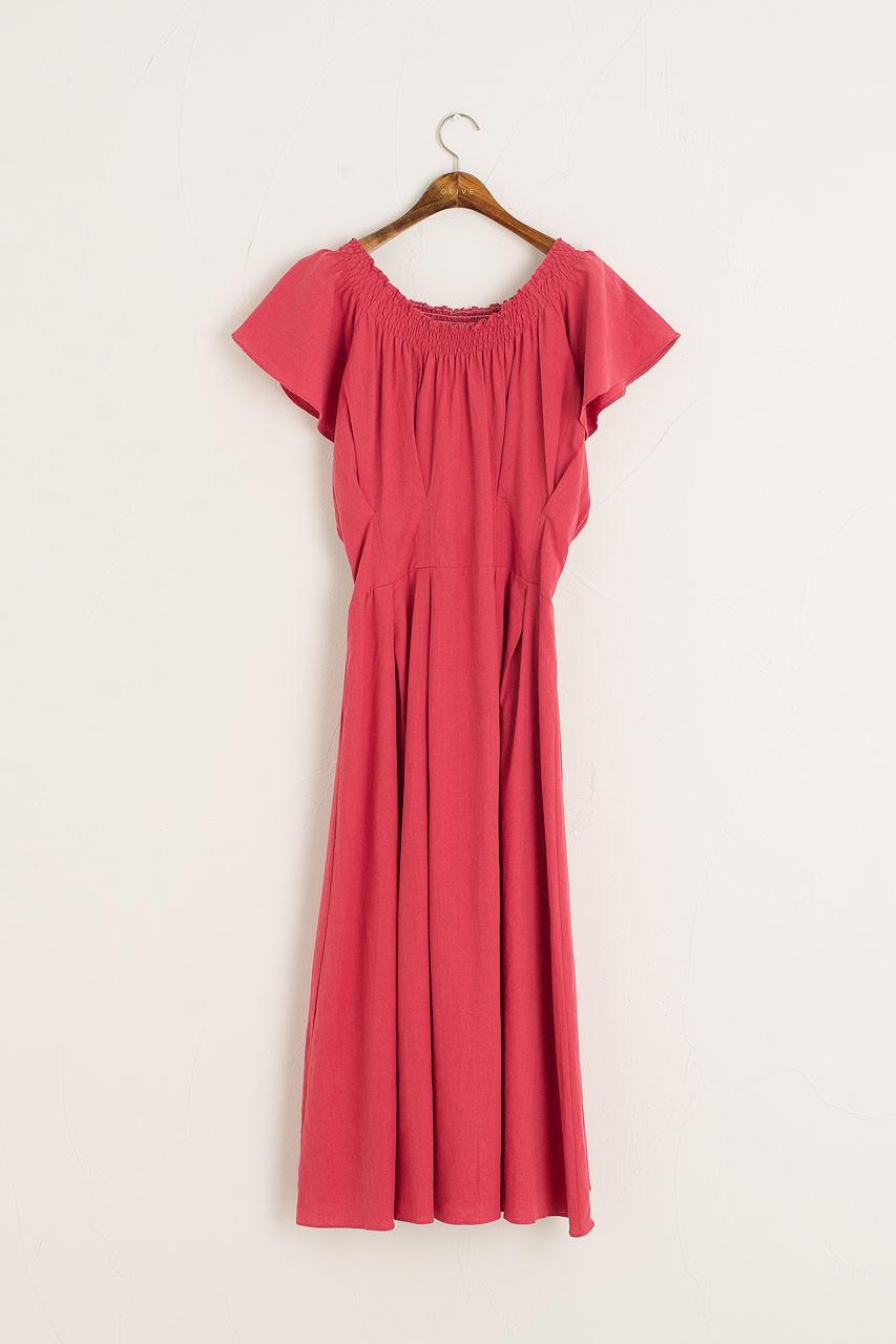Santana Linen Dress, Pink