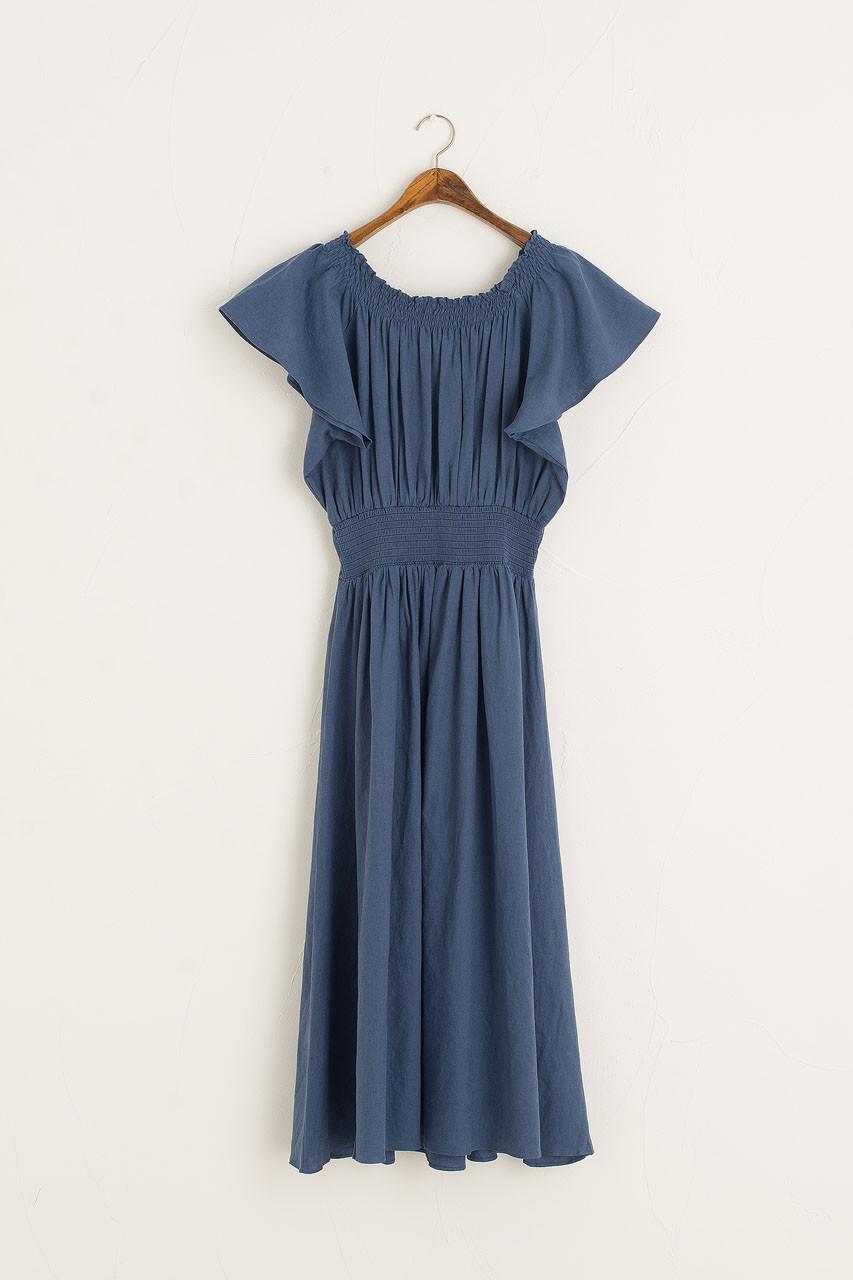 Santana Linen Dress, Blue