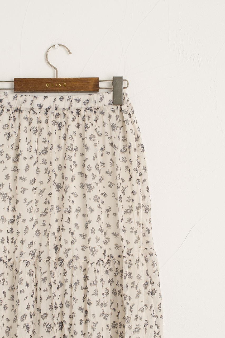 Kiera Flower Skirt, Ivory