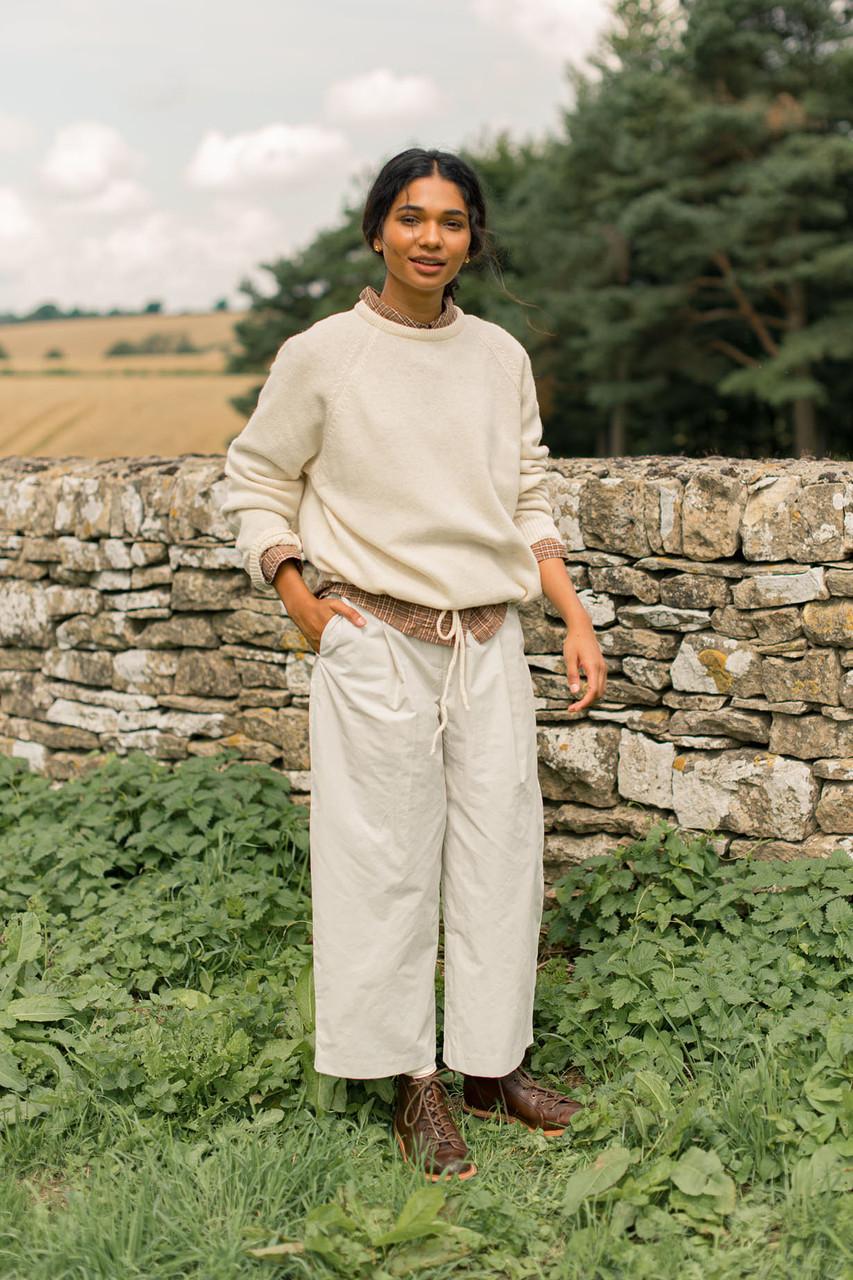 Jena Volume Pants, Ivory