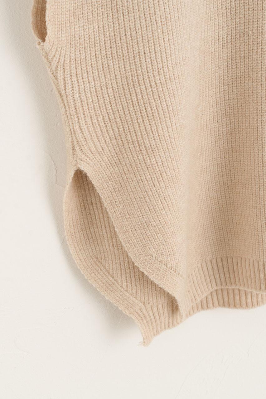 Juni Boxy Knit Vest, Oat