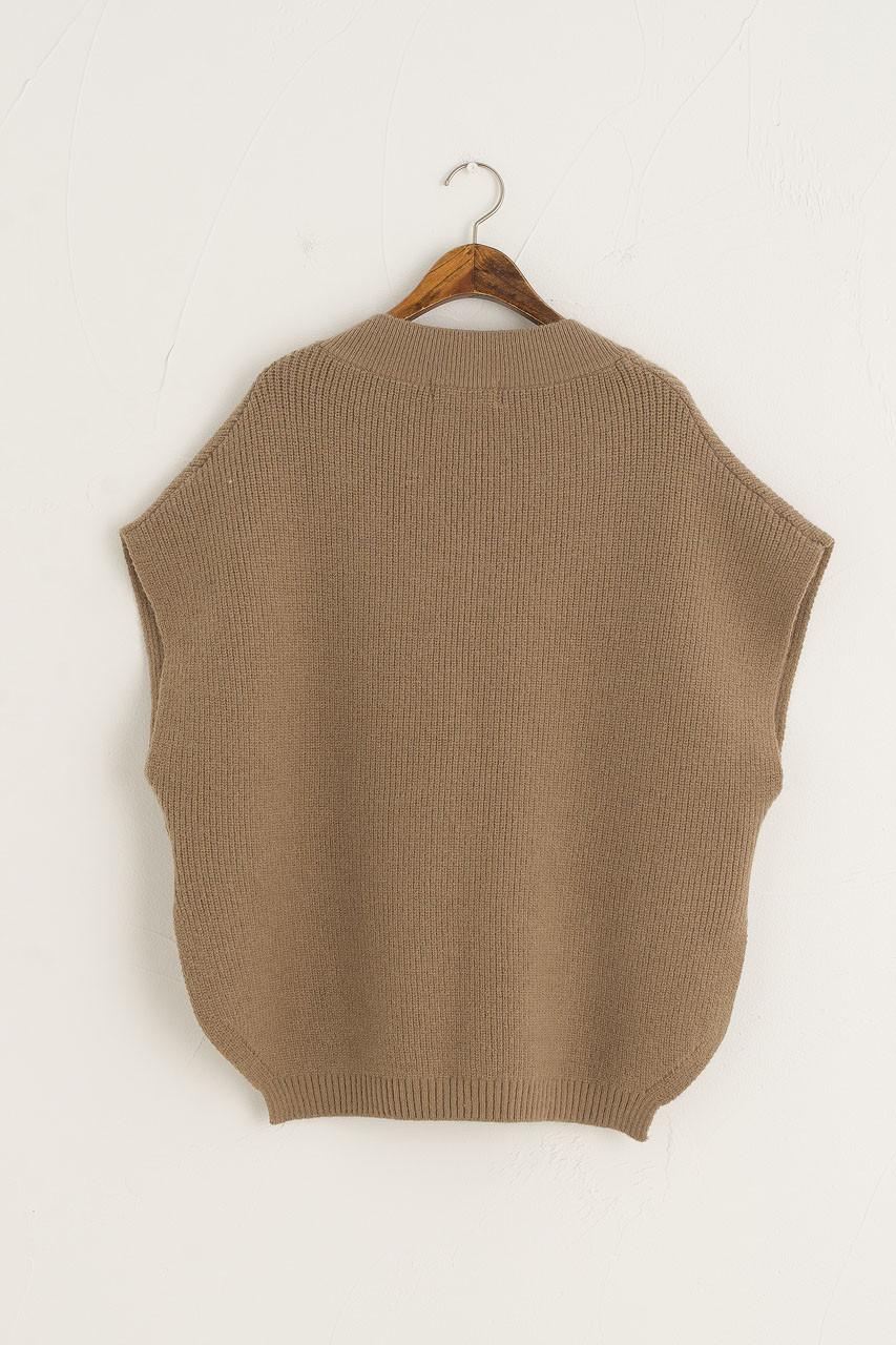 Juni Boxy Knit Vest, Mocha
