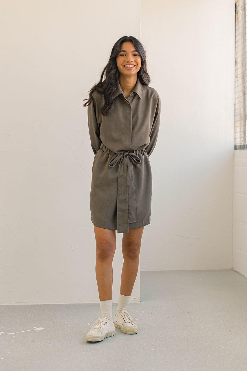Ebba Shirt Dress, Brown