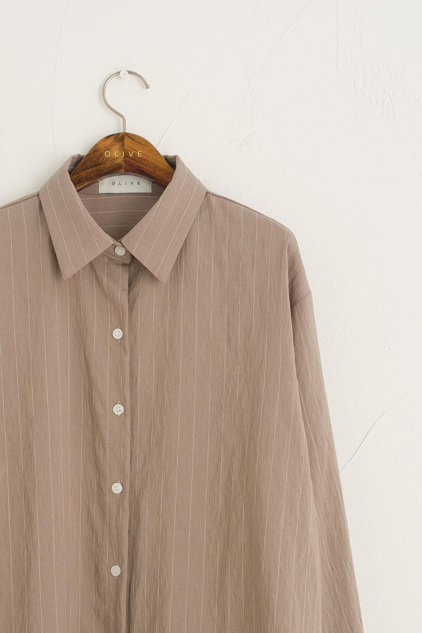 Purton Pinstripe Shirt, Beige