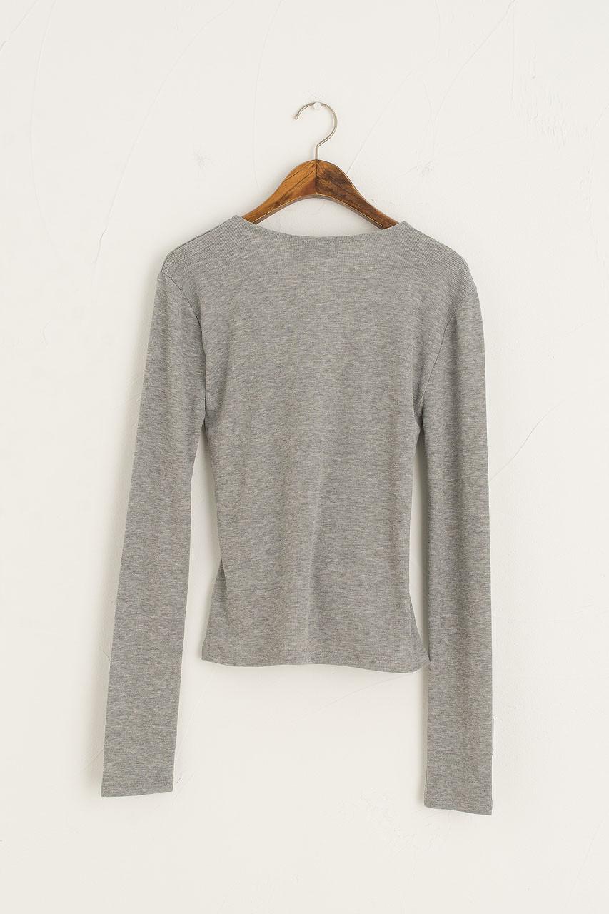 Nina Wrap Top, Grey