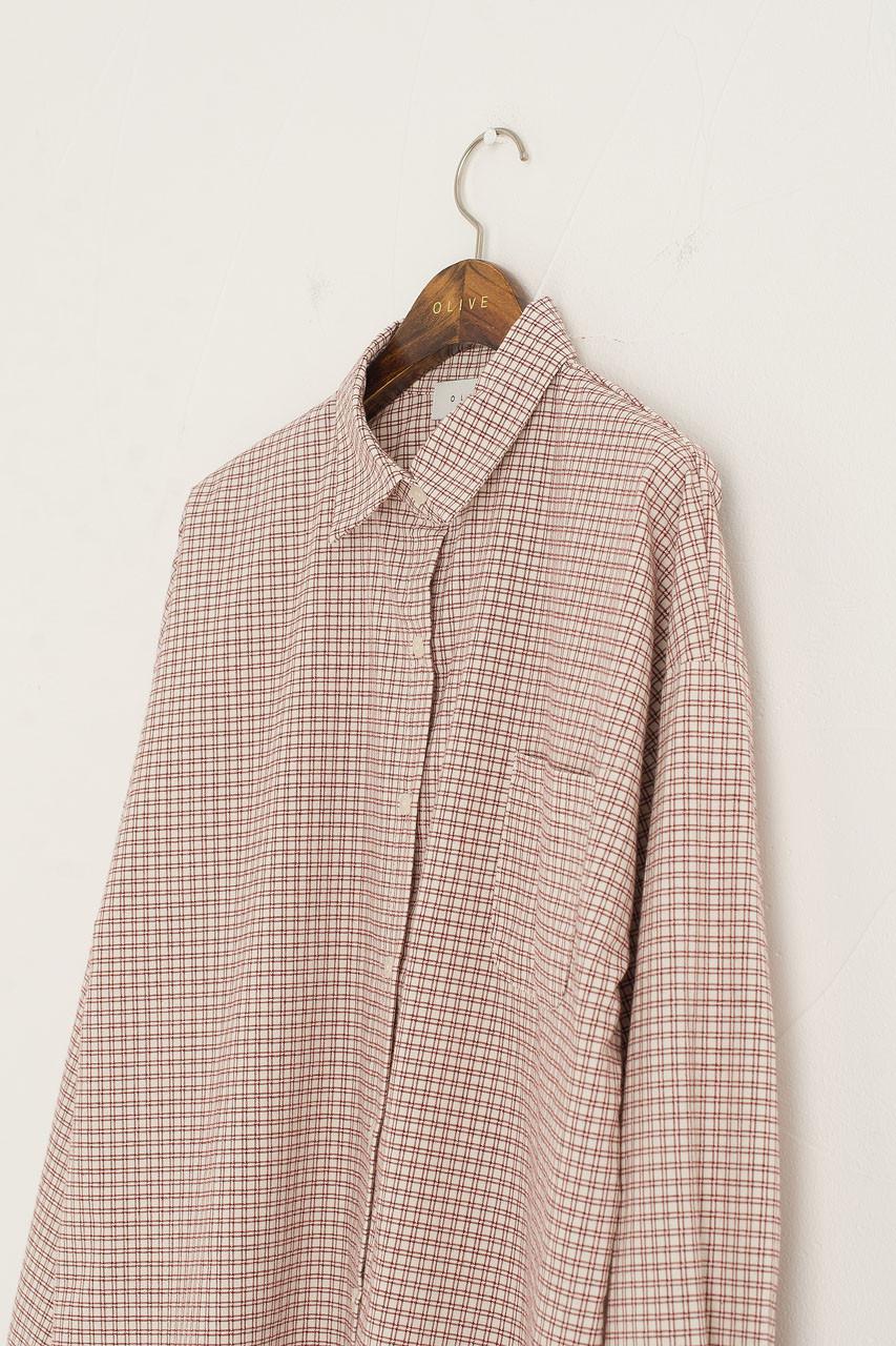 Bonnie Check Shirt, Wine