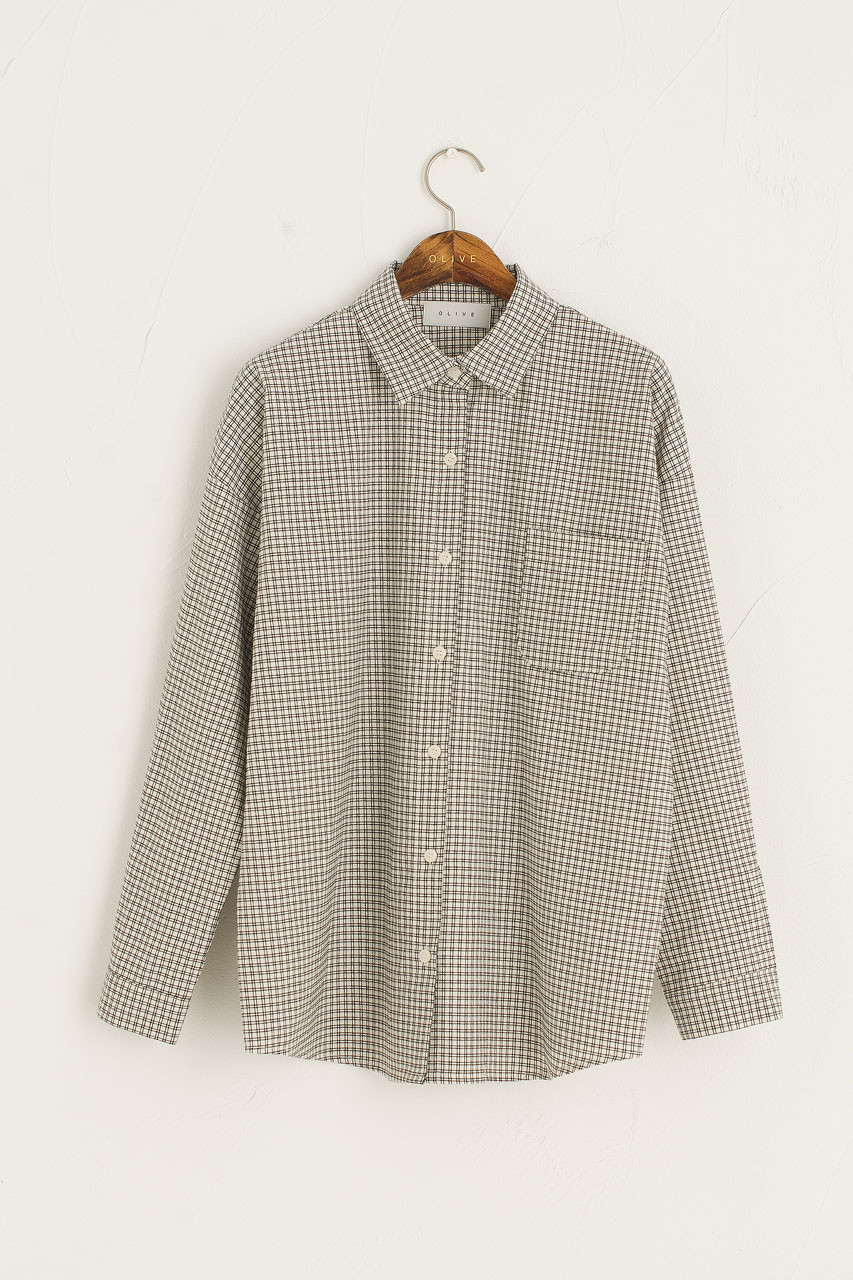 Bonnie Check Shirt, Black