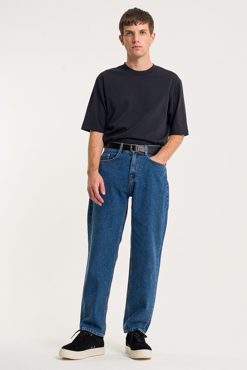 Menswear | Tapered Jeans, Mid Blue