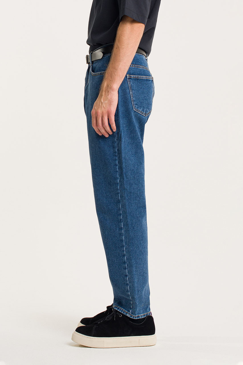 Menswear   Tapered Jeans, Mid Blue