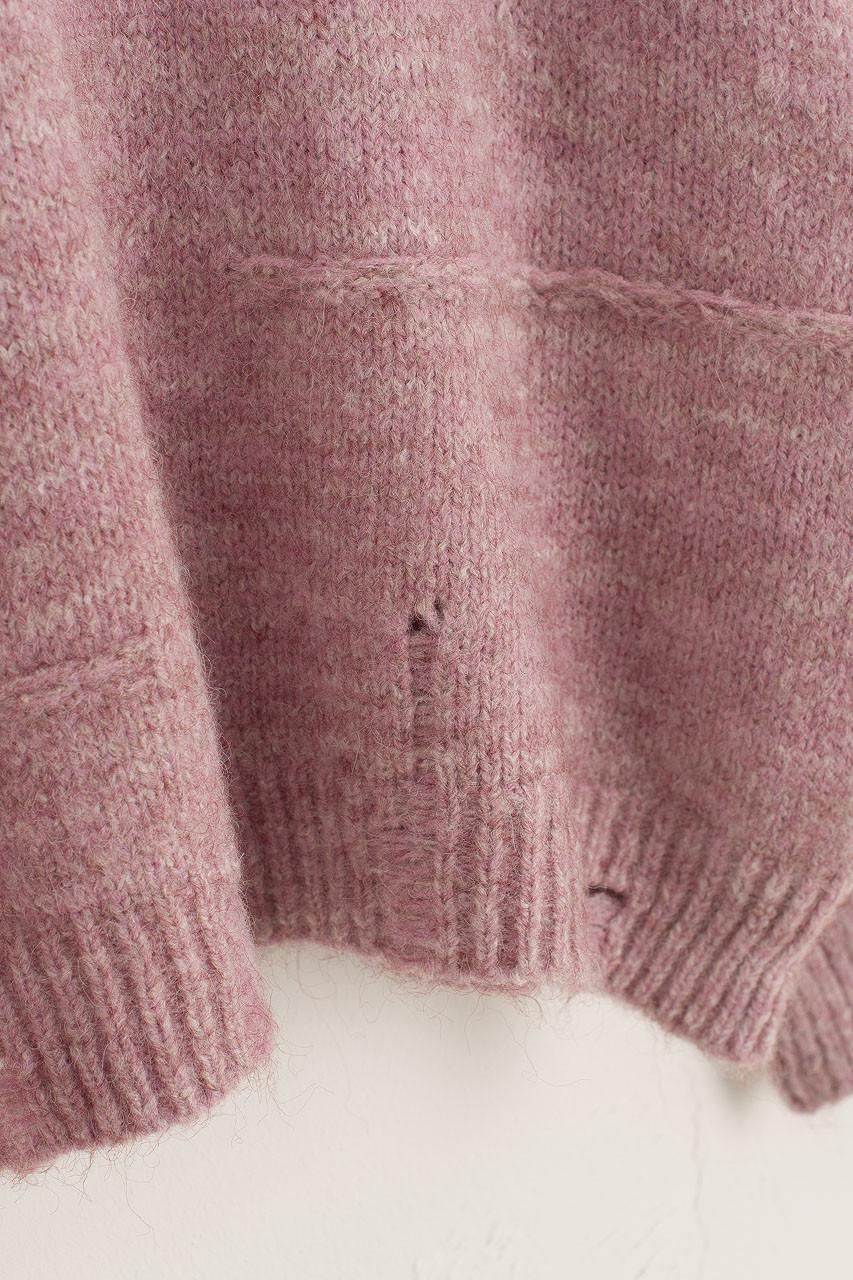 Distressed Knit Jumper, Lilac