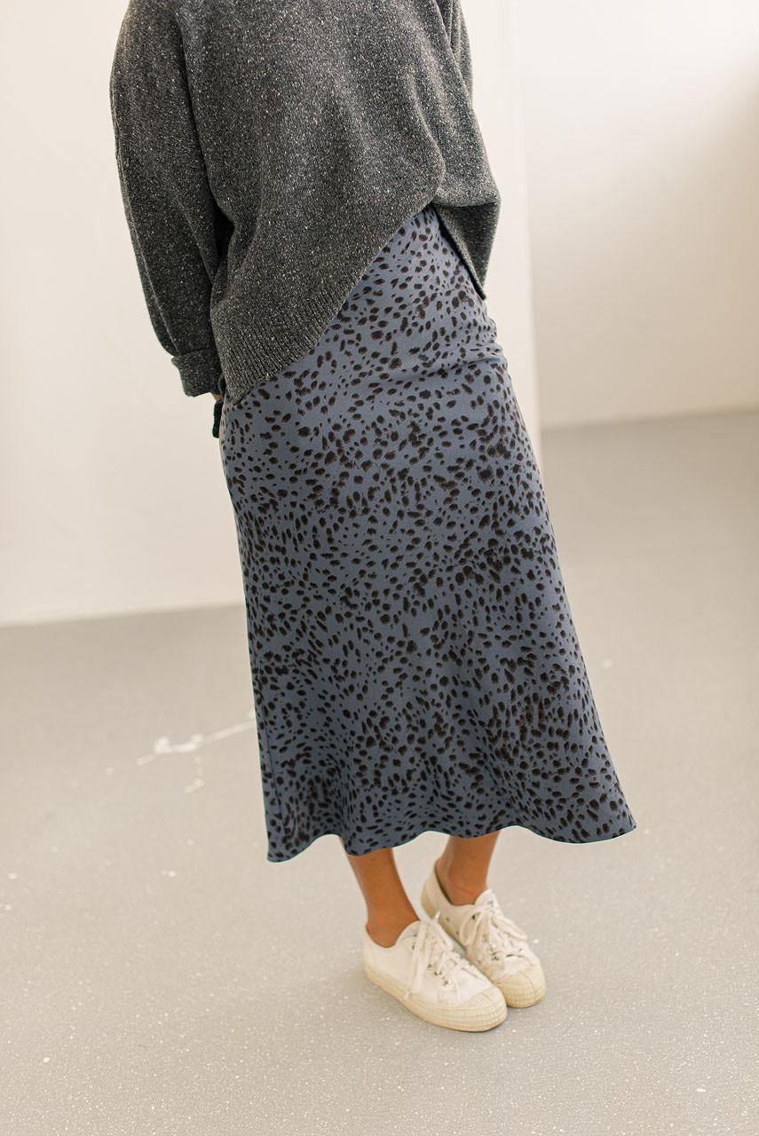 Animal Print Mermaid Skirt, Midnight Blue