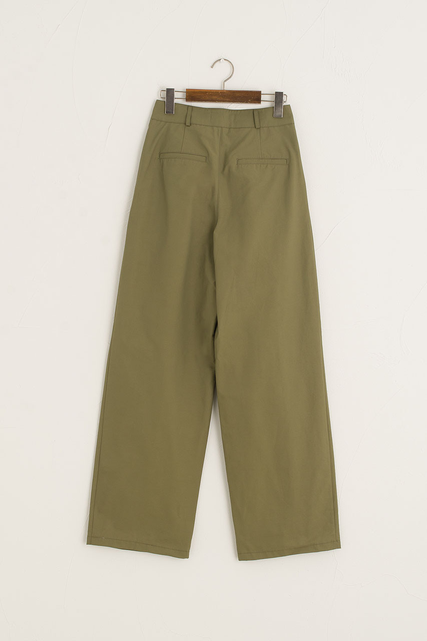 Comma Pleated Trousers, Khaki