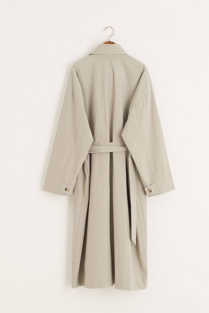 Frankie Belted Trench, Grey