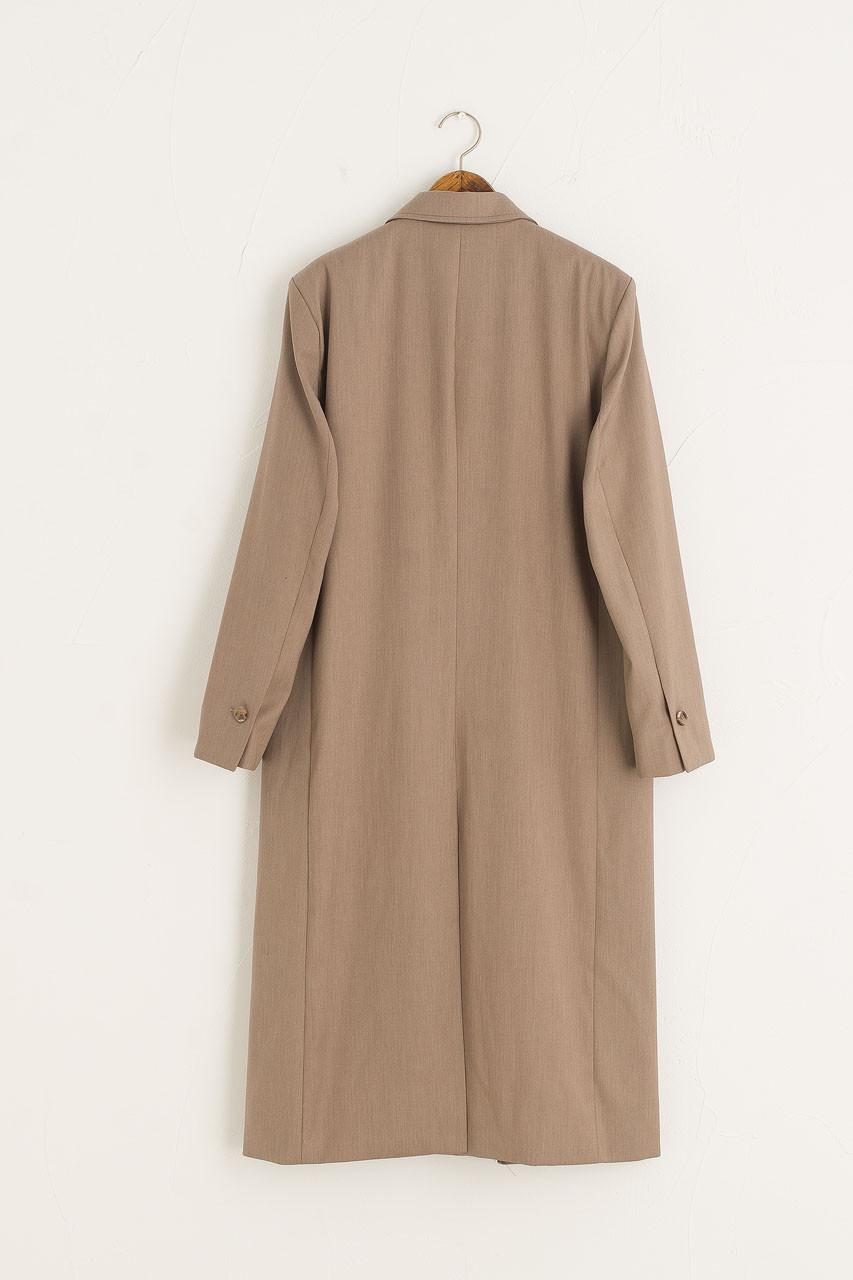 Long Tailored Coat, Beige