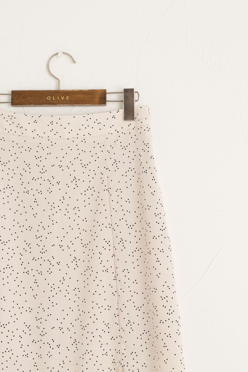 Mia Dot Print Skirt, Ivory