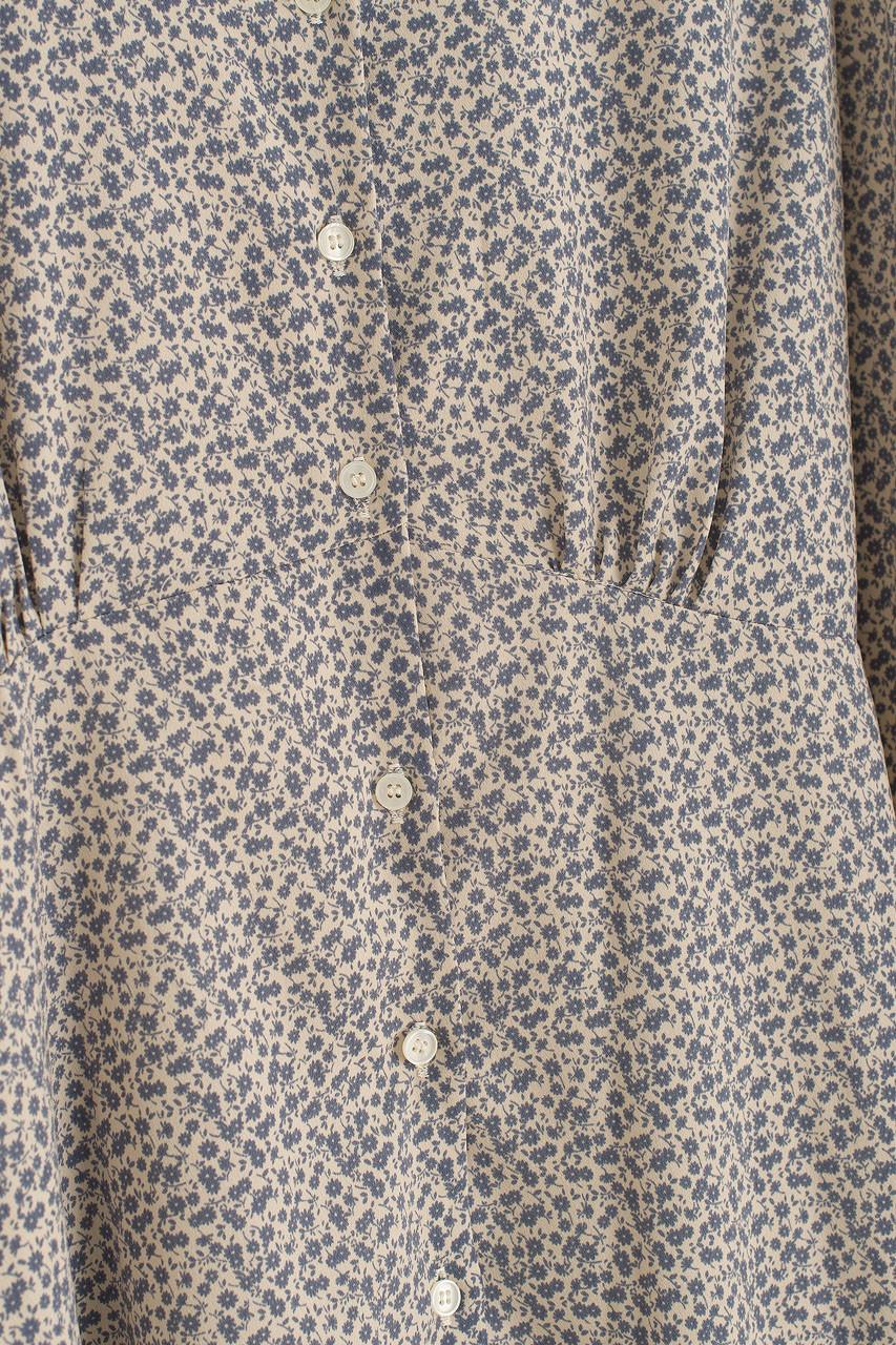Carmine Flower Dress, Blue