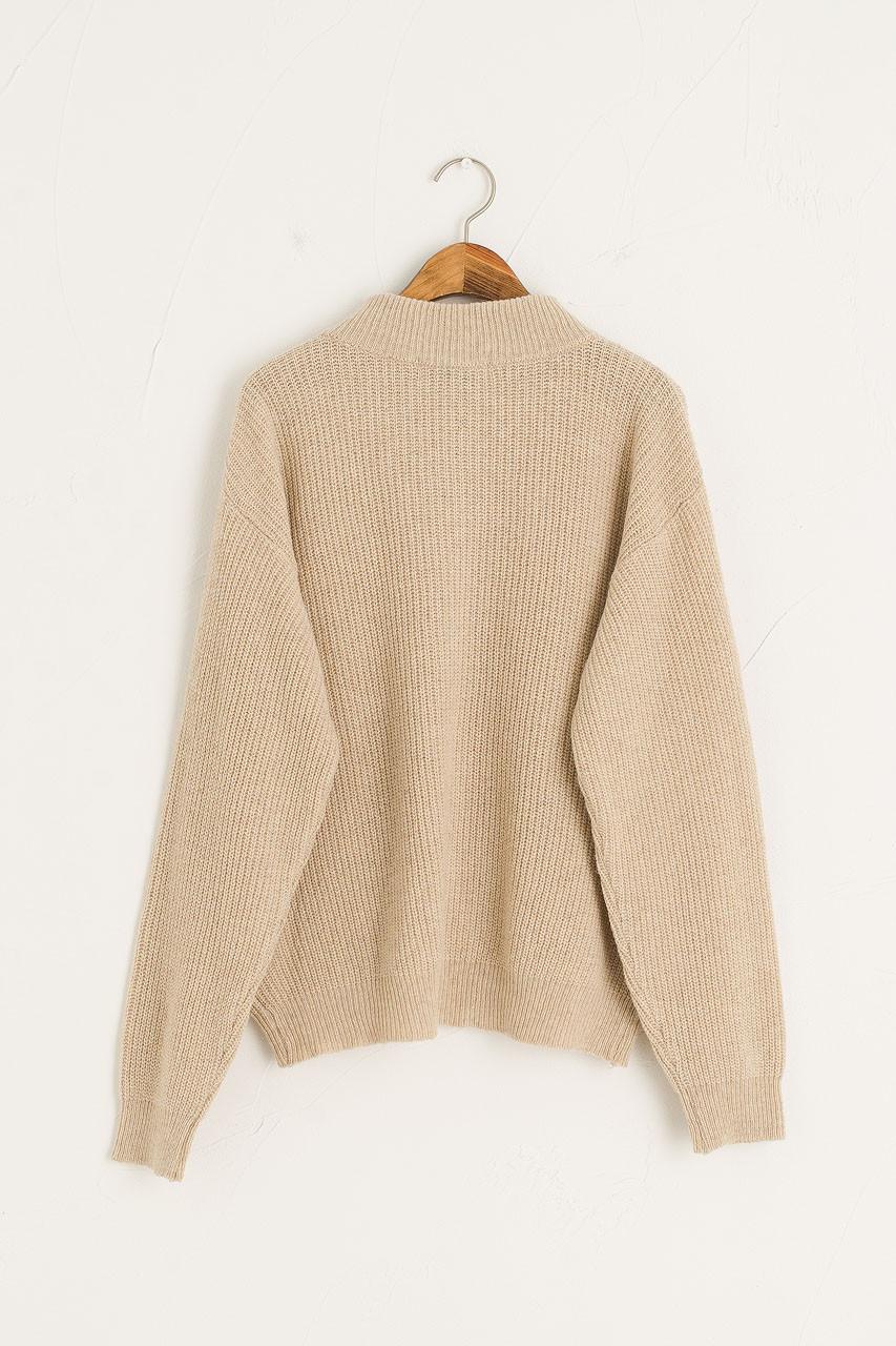 Zipped Daily Knit, Oatmeal
