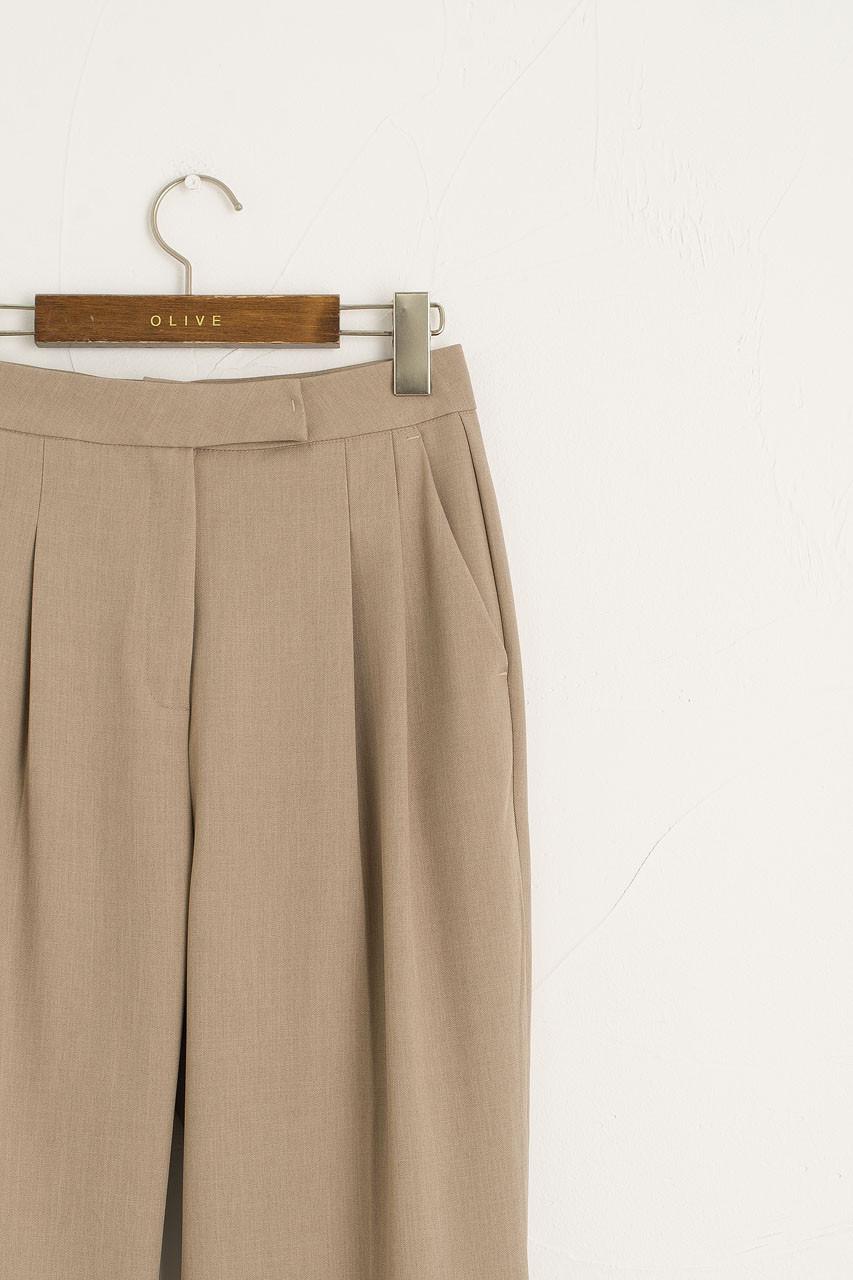Emiko Pintuck Trousers, Beige