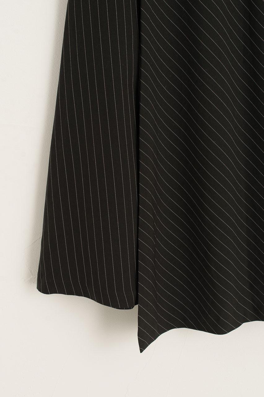 Balloon Stripe Skirt, Black