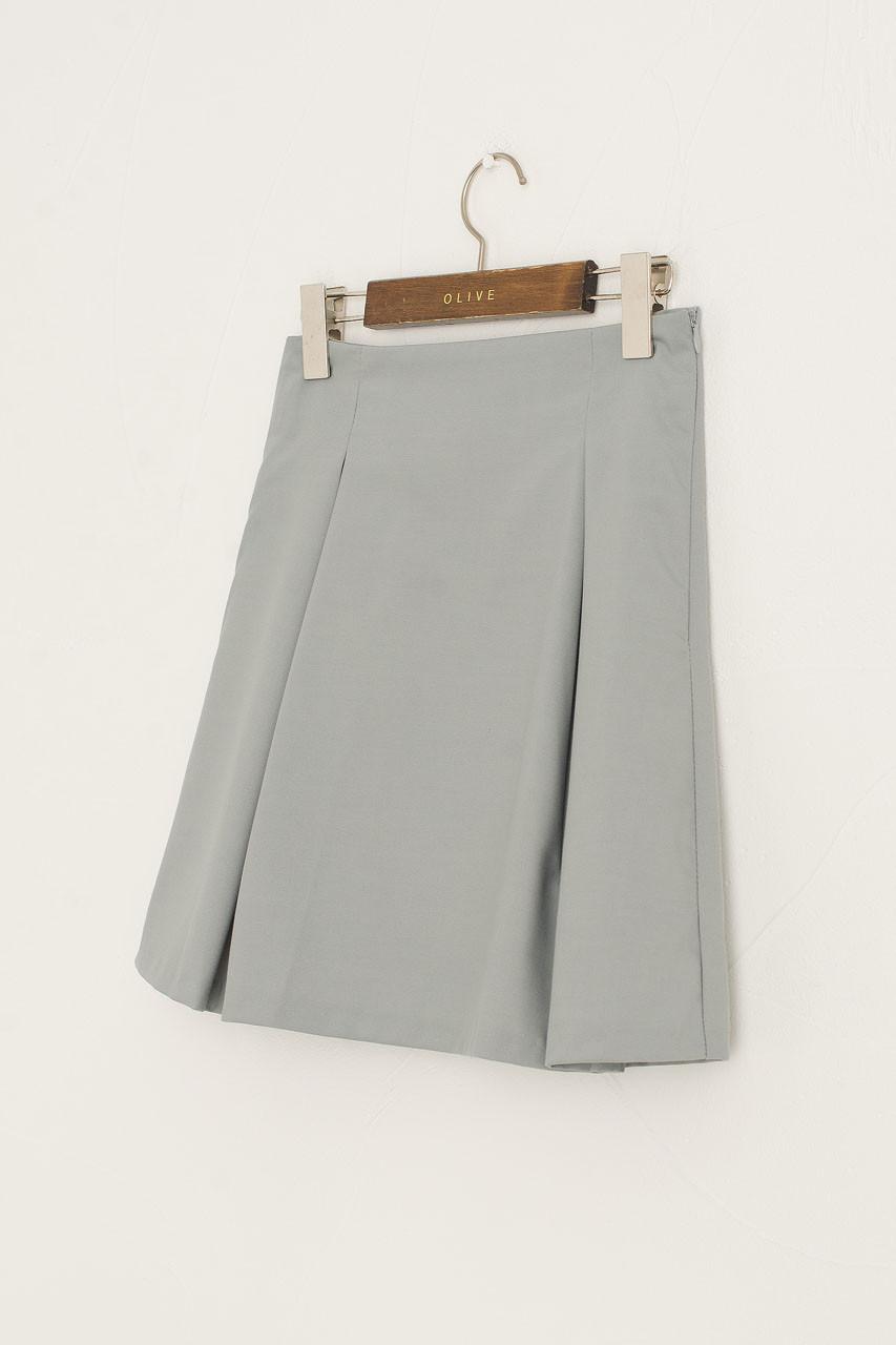 Mone Pleated Mini Skirt, Blue
