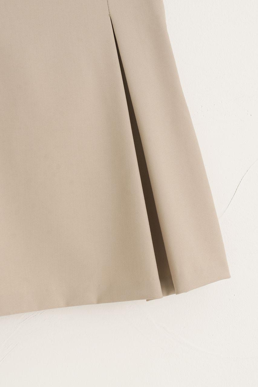 Mone Pleated Mini Skirt, Beige