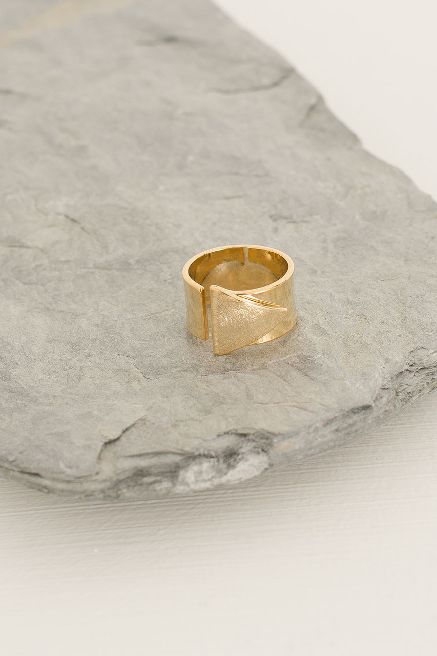 Prism Ring, Gold Plated
