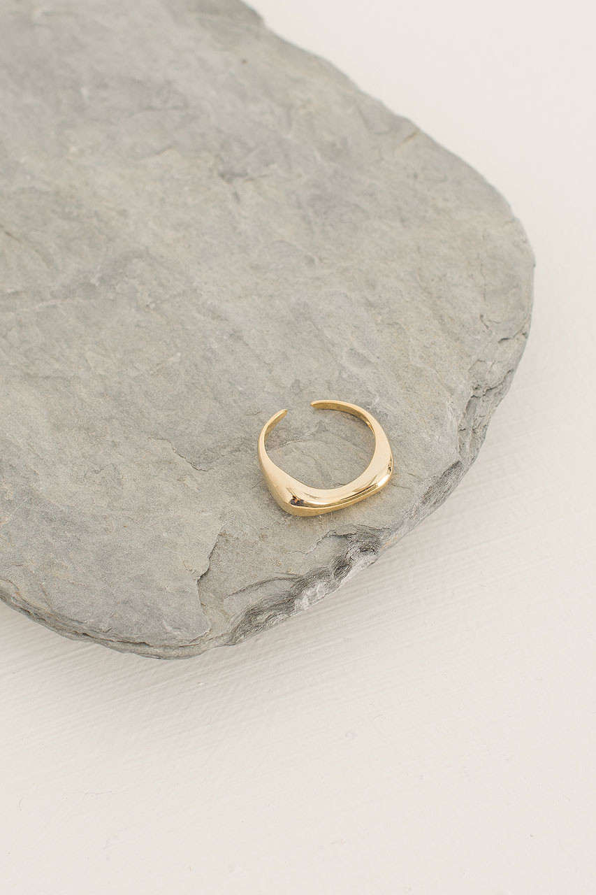 Soft Droplet Ring, Gold Plated
