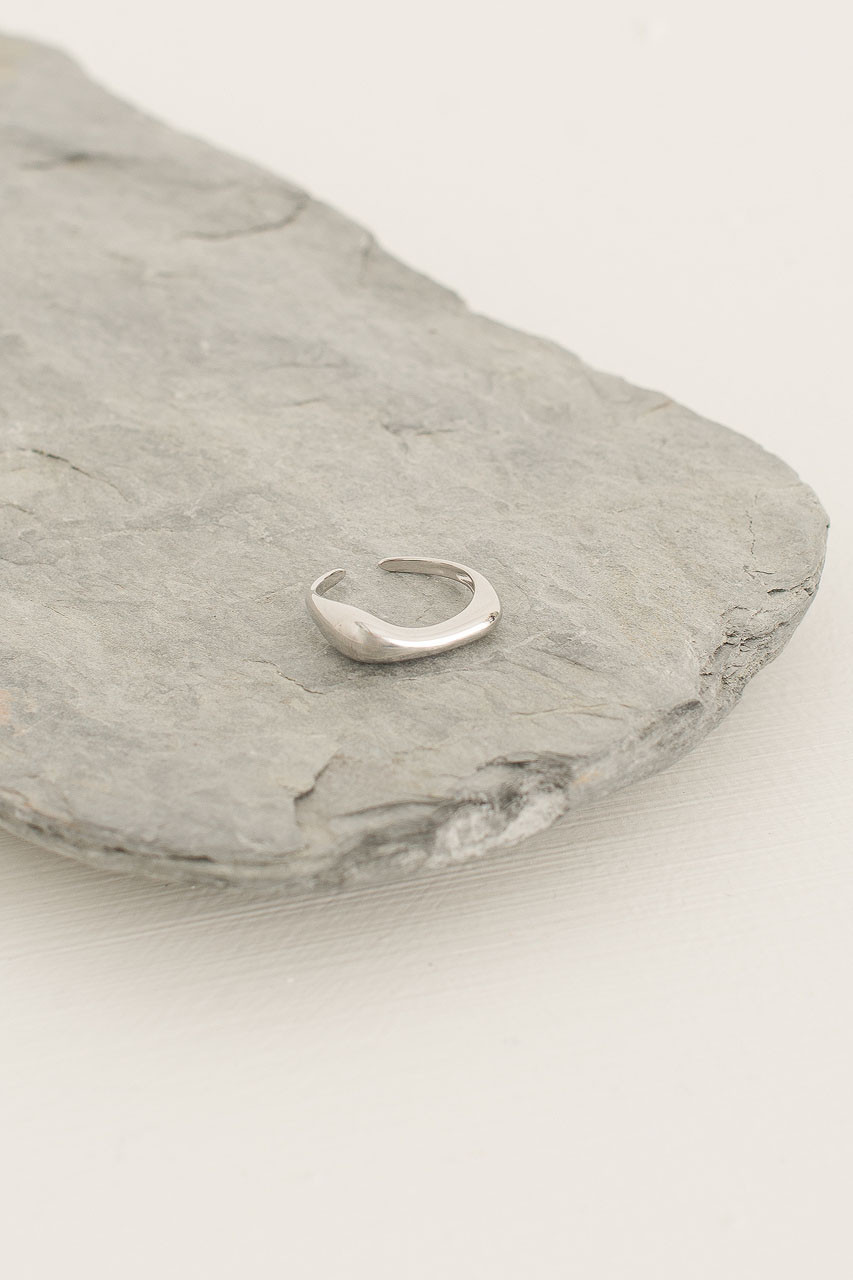 Soft Droplet Ring, Silver Plated
