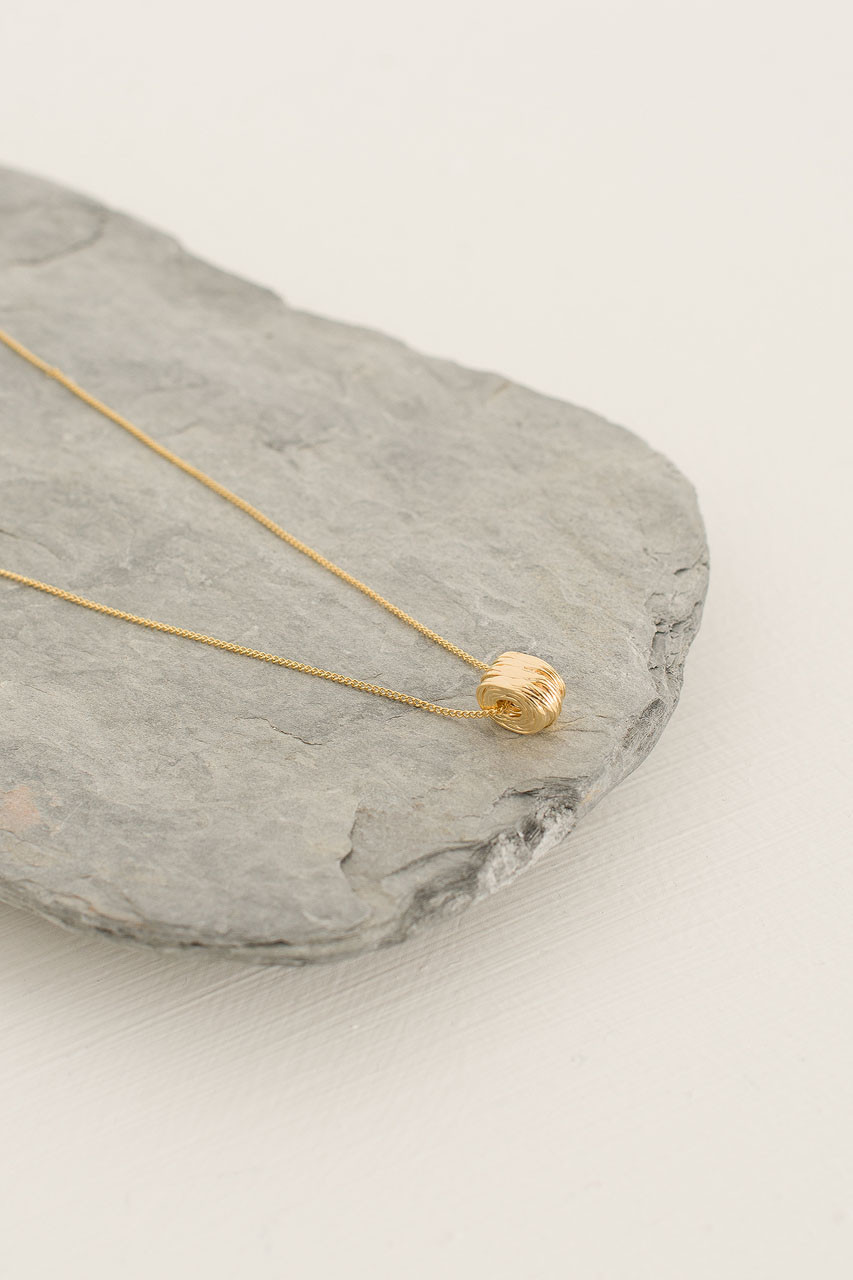 Clustered Ring Neckalce, Gold Plated