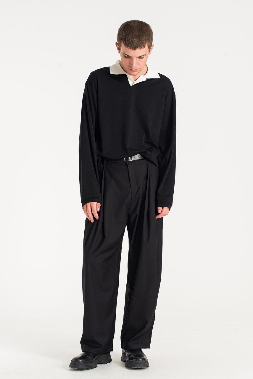 Menswear | Layered Slacks, Black