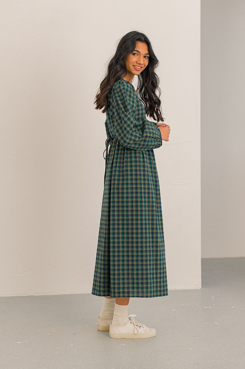 Kaneko Check Dress, Green