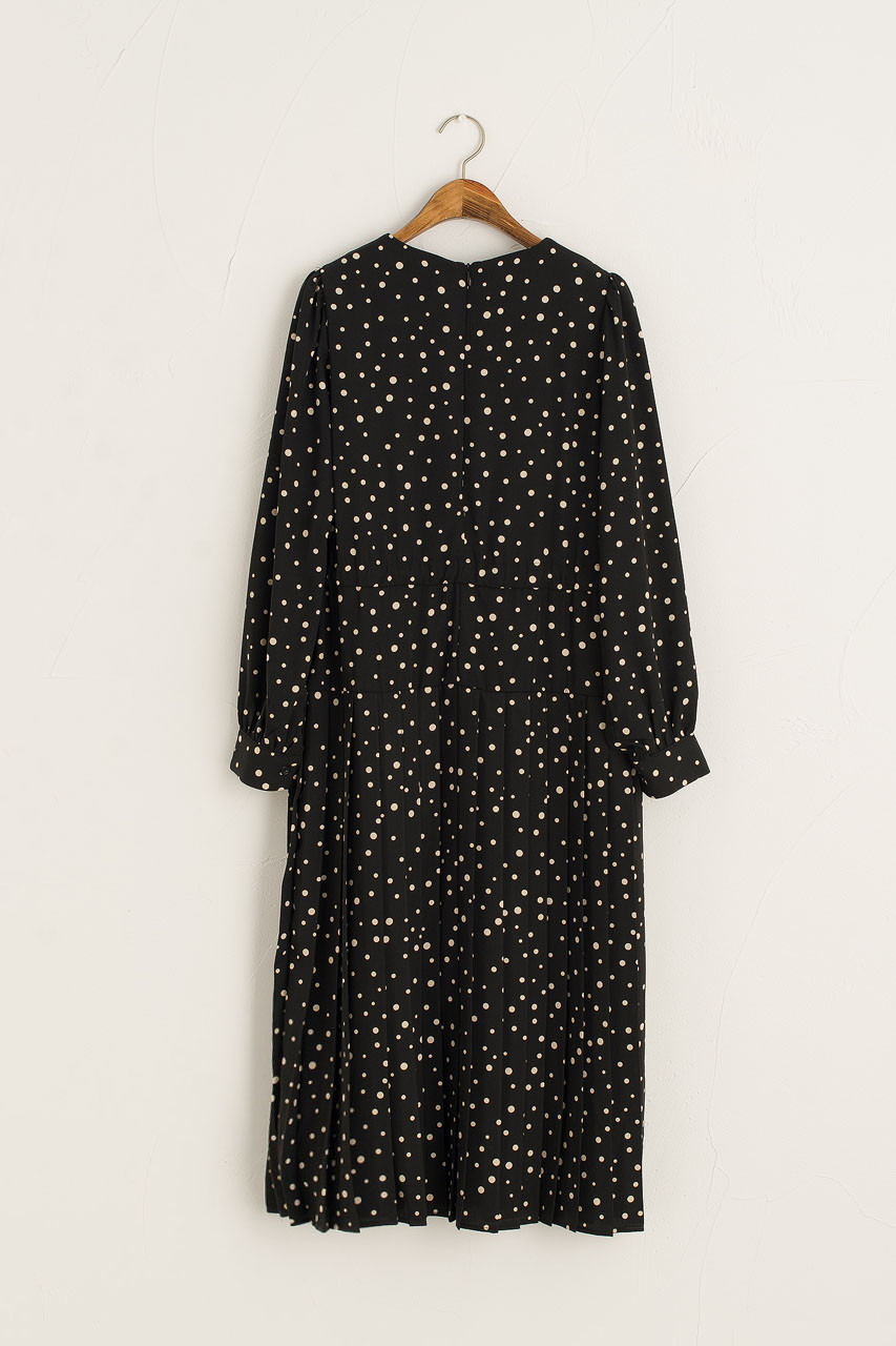 Yuri Dotty Dress, Black