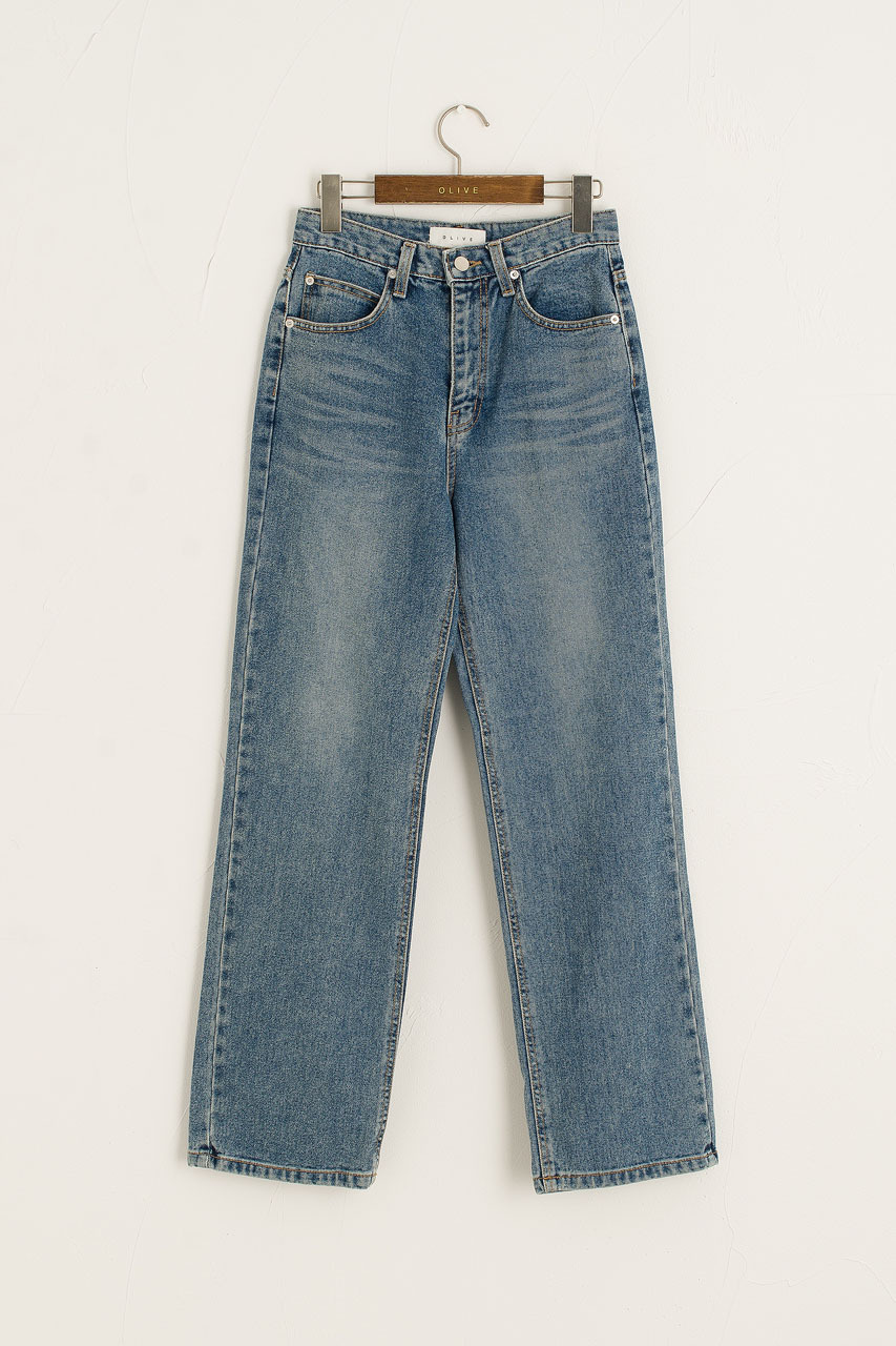 Koya Straight Jean, Mid Blue