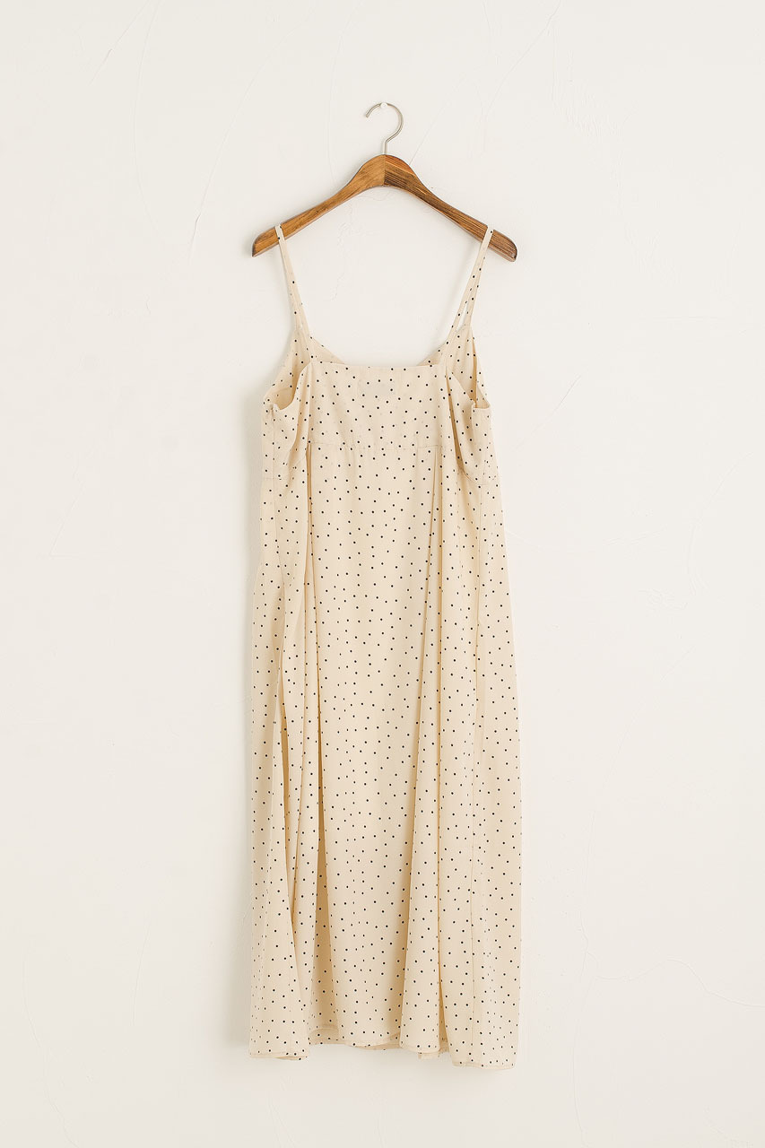Jemma Dotty Cami Dress, Ivory